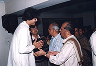 Partho with Kashinath Mukherjee
